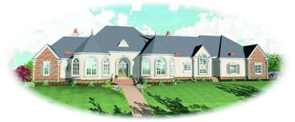 4 Bed, 4 Bath, 8194 Square Foot House Plan - #053-02262
