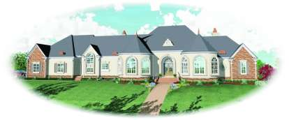 4 Bed, 4 Bath, 7639 Square Foot House Plan - #053-02265