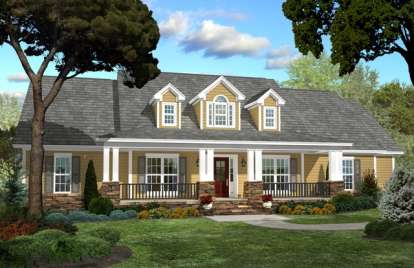 4 Bed, 2 Bath, 2250 Square Foot House Plan - #041-00049