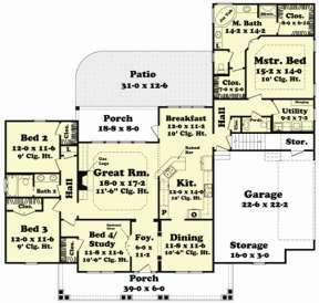 Main Floor for House Plan #041-00049