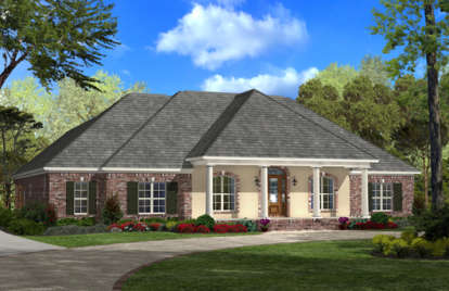 4 Bed, 2 Bath, 2900 Square Foot House Plan - #041-00053
