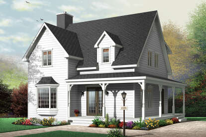 3 Bed, 2 Bath, 1502 Square Foot House Plan - #034-00225