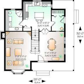 Floorplan 1 for House Plan #034-00225