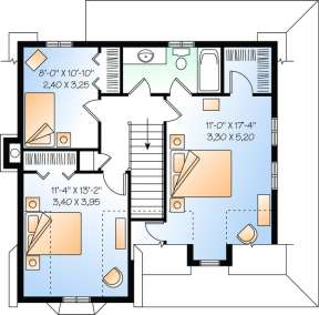 Floorplan 2 for House Plan #034-00225