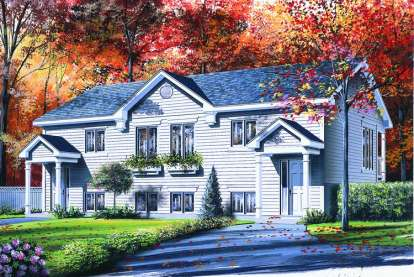 3 Bed, 2 Bath, 2344 Square Foot House Plan - #034-00228