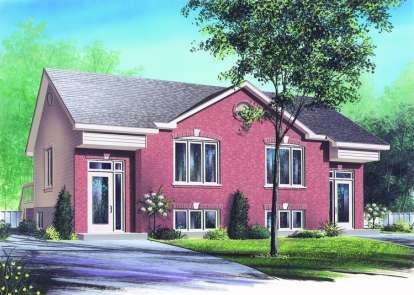 3 Bed, 1 Bath, 2504 Square Foot House Plan - #034-00231