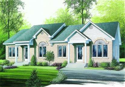 2 Bed, 1 Bath, 1632 Square Foot House Plan - #034-00233