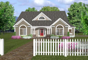 Traditional House Plan #036-00049 Elevation Photo