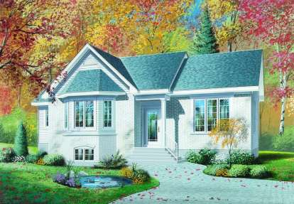 3 Bed, 1 Bath, 1206 Square Foot House Plan - #034-00244