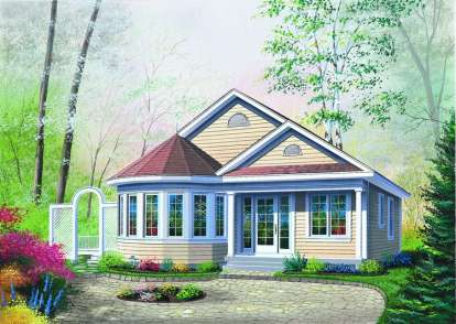2 Bed, 1 Bath, 1069 Square Foot House Plan - #034-00249
