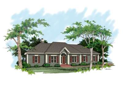 3 Bed, 2 Bath, 1886 Square Foot House Plan - #036-00050