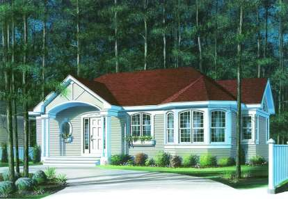 2 Bed, 1 Bath, 1066 Square Foot House Plan - #034-00254