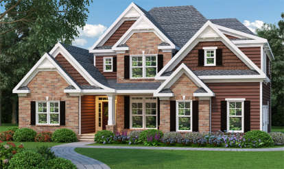 3 Bed, 2 Bath, 2276 Square Foot House Plan - #009-00085