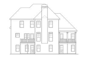 Southern House Plan #009-00085 Elevation Photo