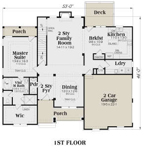 Main Floor for House Plan #009-00085