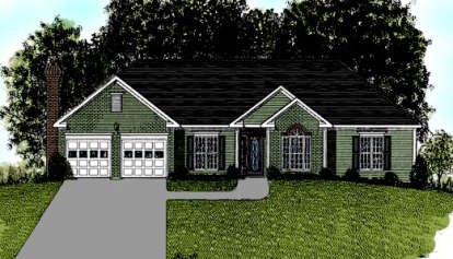 4 Bed, 2 Bath, 1814 Square Foot House Plan - #036-00051