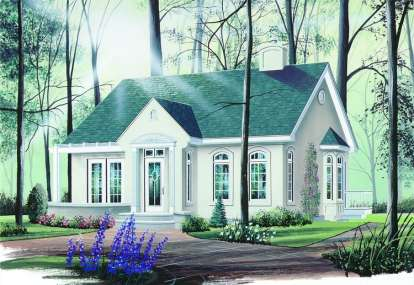 2 Bed, 1 Bath, 1066 Square Foot House Plan - #034-00263