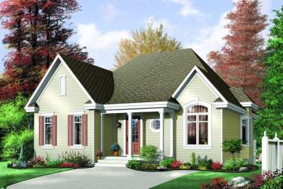 2 Bed, 1 Bath, 1102 Square Foot House Plan - #034-00264
