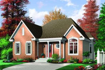 3 Bed, 1 Bath, 1321 Square Foot House Plan - #034-00268