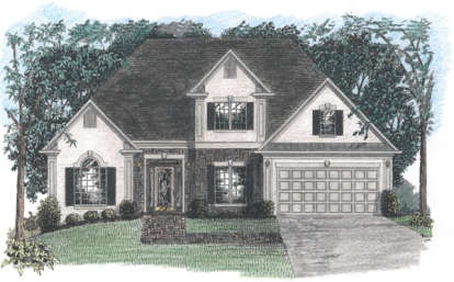 4 Bed, 3 Bath, 1871 Square Foot House Plan - #036-00052