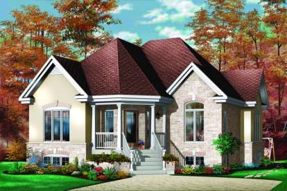 2 Bed, 1 Bath, 1113 Square Foot House Plan - #034-00272