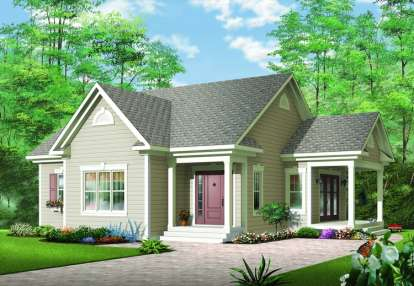 1 Bed, 1 Bath, 1108 Square Foot House Plan - #034-00273