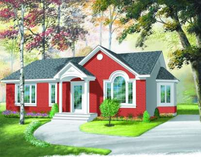 3 Bed, 1 Bath, 1113 Square Foot House Plan - #034-00289