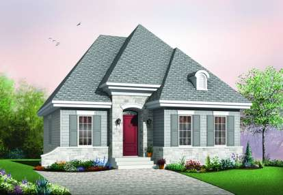 2 Bed, 1 Bath, 946 Square Foot House Plan - #034-00292