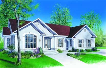 4 Bed, 2 Bath, 2165 Square Foot House Plan - #034-00309