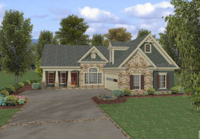 3 Bed, 2 Bath, 1831 Square Foot House Plan - #036-00056