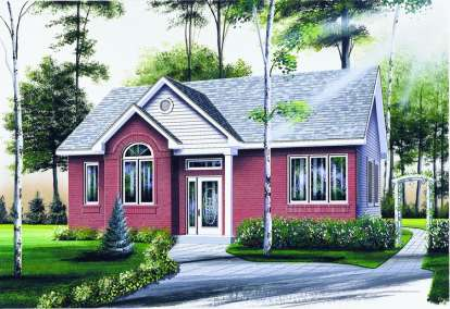 2 Bed, 1 Bath, 960 Square Foot House Plan - #034-00321
