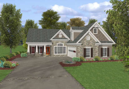 3 Bed, 2 Bath, 1820 Square Foot House Plan - #036-00058