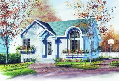 2 Bed, 1 Bath, 947 Square Foot House Plan - #034-00332