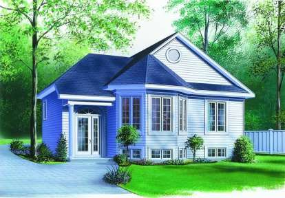 2 Bed, 1 Bath, 975 Square Foot House Plan - #034-00336