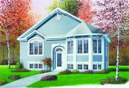 2 Bed, 1 Bath, 991 Square Foot House Plan - #034-00337