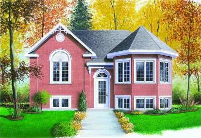 2 Bed, 1 Bath, 1018 Square Foot House Plan - #034-00338