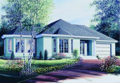2 Bed, 1 Bath, 1196 Square Foot House Plan - #034-00342