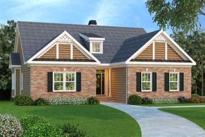 3 Bed, 2 Bath, 1861 Square Foot House Plan - #009-00086