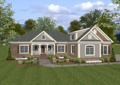 3 Bed, 3 Bath, 1800 Square Foot House Plan - #036-00061