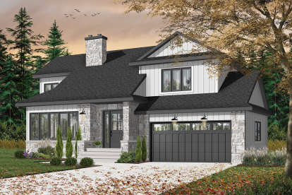 3 Bed, 1 Bath, 1569 Square Foot House Plan - #034-00369