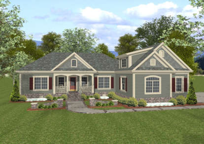 3 Bed, 3 Bath, 1800 Square Foot House Plan - #036-00062
