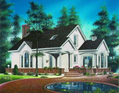 3 Bed, 1 Bath, 1405 Square Foot House Plan - #034-00373