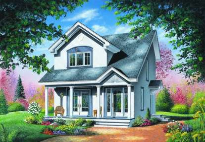 3 Bed, 1 Bath, 1310 Square Foot House Plan - #034-00383