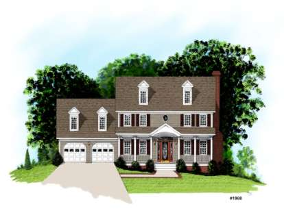 4 Bed, 2 Bath, 1998 Square Foot House Plan - #036-00064