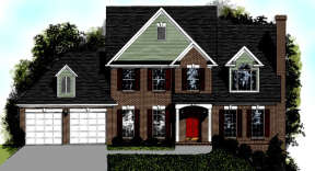 Traditional House Plan #036-00065 Elevation Photo