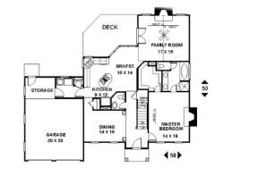 First Floor for House Plan #036-00065
