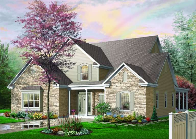 Country House Plan #034-00402 Elevation Photo