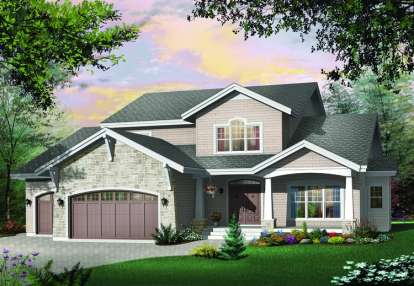 4 Bed, 3 Bath, 3955 Square Foot House Plan - #034-00407