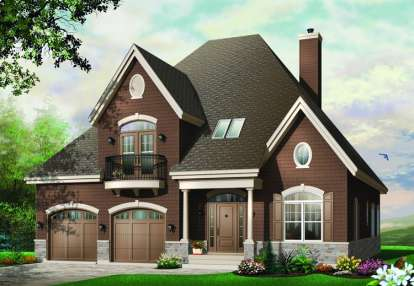 4 Bed, 2 Bath, 3126 Square Foot House Plan - #034-00413