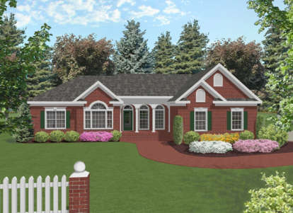 3 Bed, 2 Bath, 1992 Square Foot House Plan - #036-00067